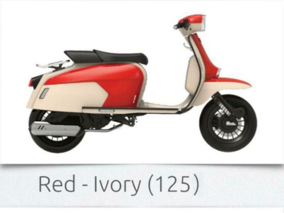 ROYAL ALLOY GP125 BRAND NEW 2021 EURO5 ROYAL ALLOY GP125 AC RED IVORY