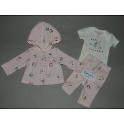 NWT, Baby girl clothes, Preemie, Carter's cardigan set/    ~~SEE DETAILS ON SIZE