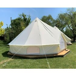 4-5 person luxury Oxford 5M bell tent pyramidal waterproof tent Wedding outdoor