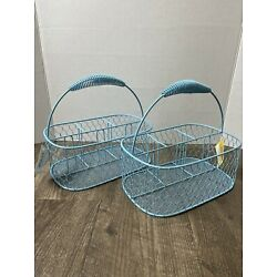 ASHLAND SIGNATURE ACCENTS FARMERS MARKET CHICKEN WIRE CADDY BASKETS WITH HANDLE