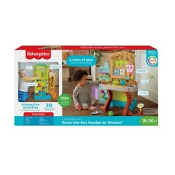 Fisher-Price Laugh And Learn Grow-The-Fun Garden To Kitchen Playset