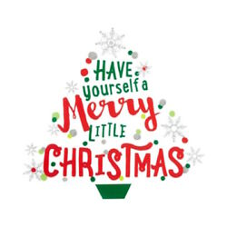Holiday Lane Have Yourself a Merry Little Christmas Wall Decal Tree Peel Stick
