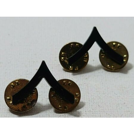 img-United States US Army Plastic version Private Rank badge pair W1.8cm