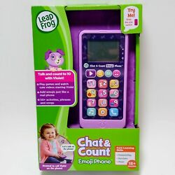Leap Frog Chat & Count Emoji Phone Games Videos Over 50 Activities phrases songs