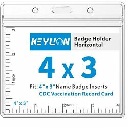 Sealable WATERPROOF Vaccination Card Holder 4 x 3 Record Protector vaccine