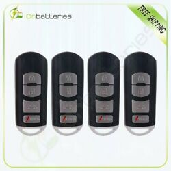 4PIECES For Mazda 6 SMART Keyless Entry Remote Car Key Fob Shell Case Cover