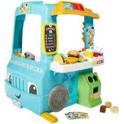 FISHER PRICE LAUGH AND LEARN SERVIN UP FUN FOOD TRUCK *DISTRESSED PKG