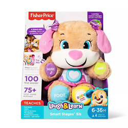 Fisher-Price Laugh and Learn Smart Stages Puppy Sis 75+ Songs DMG PKG B250