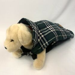 Dog Coat Vest Sz Large Plaid Quilted Flannel Hook And Loop Closure By Cute Pet