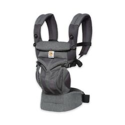 Ergobaby Omni 360 Cool Air Mesh Baby Carrier, All Positions - Grey Weave - NEW