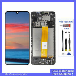 For Samsung A12 SM-A125U A125F/DS LCD Display Glass Touch Screen Digitizer Frame