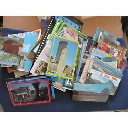 Lot of 300 US & Foreign Postcards Mostly Chrome Era Standard & Continental size