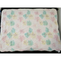 Burt's Bee Baby Pink Floral Flower Crib Quilt Thick Yellow Medallion Blanket Toy