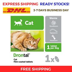 48 x Bayer Cat Dewormer Treatment for Tape & Round Worm Tabs FREE EXPRESS