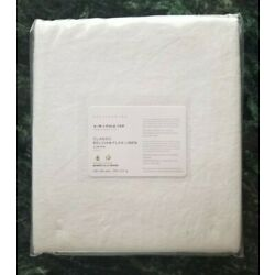 Pottery Barn Belgian Flax Linen Curtain 100x84 Panel White NEW Free Shipping