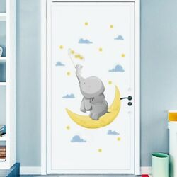 Baby Elephant Wall Stickers For Living Room Home Bedroom Vinyl Mural Wall Decals