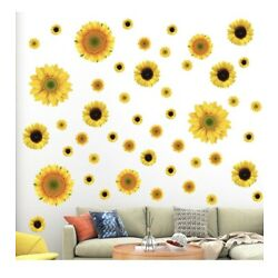 Sunflower Wall Decals - 56 Pcs  Stickers Removable Mural Home Room Decoration