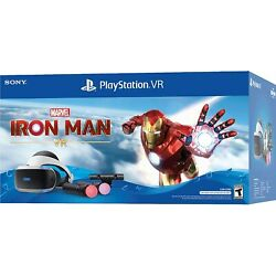 PlayStation VR Iron Man PSVR PS4 Headset + Camera + Controllers Bundle Brand New
