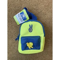 Top Paw Mini Backpack for Dogs Yellow/Blue Size Small Clothing Accessory  Peace