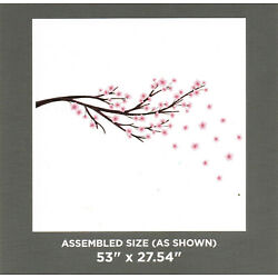 CHERRY BLOSSOM Pink Flower Wall Art Mural Decals Appliques Stickers 53'' x 27''