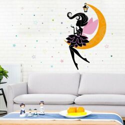 Princess Elf On The Moon Wall Stickers For Kids Room Living Room Home Wall Decal
