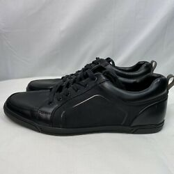 ALDO Black Leather Perforated Casual Shoes Low Top Lace-Up Sneaker Men's Size 12