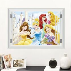 Belle Ariel Belle Aurora Princess Wall Stickers For Home Living Room Vinyl Decal