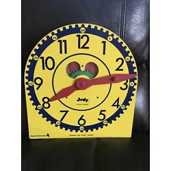 Large Vintage ''JUDY CLOCK''. Judy Instructo Wood Teaching Clock..Telling Time