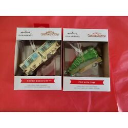 Hallmark 2021 Cousin Eddie s RV Griswold Wagon Car with Tree Christmas Ornaments