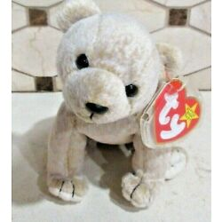 Ty Beanie Baby almond the Bear DOB -April 14, 1999 MWMT Free Shipping