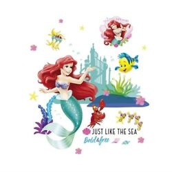 Underwater Sea Fish Bubble Princess Wall Stickers Kids Room Bedroom Wall Decals