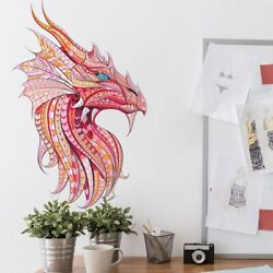 Color Animal Puzzle Dragon Wall Stickers Living Room Bedroom Mural Wall Decals