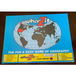 Wherzit The Fun And Easy Game Of Geography United States Homeschool Educational
