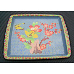 Vintage BUTTERFLY & FLOWERS Floral Daher Decorated Ware TRAY 11101 England