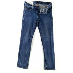 Abercrombie & Fitch 32x32 Button Fly Skinny Jeans Classic Denim Faded