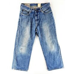 VINTAGE Abercrombie & Fitch Baggy 31x30 Jeans Classic Heavy Denim Distressed