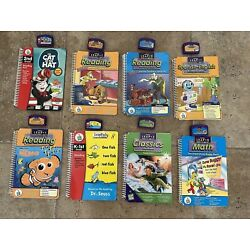 Lot 8 Leapfrog Schoolhouse Leap Pad Reader Reading Books all with Cartridges