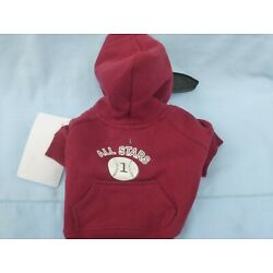 DOG/Pet  HOODED BASEBALL All Stars SWEATSHIRT  by CASUAL CANINE size Large  NEW