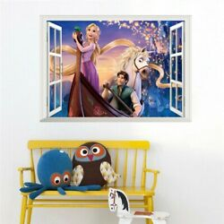 3D Anna Princess Hans Prince Window Wall Stickers For Bedroom Mural Vinyl Decals