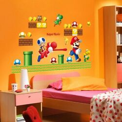 Classical Game Super Mario Wall Stickers Home Kids Room Living Room Vinyl Decals