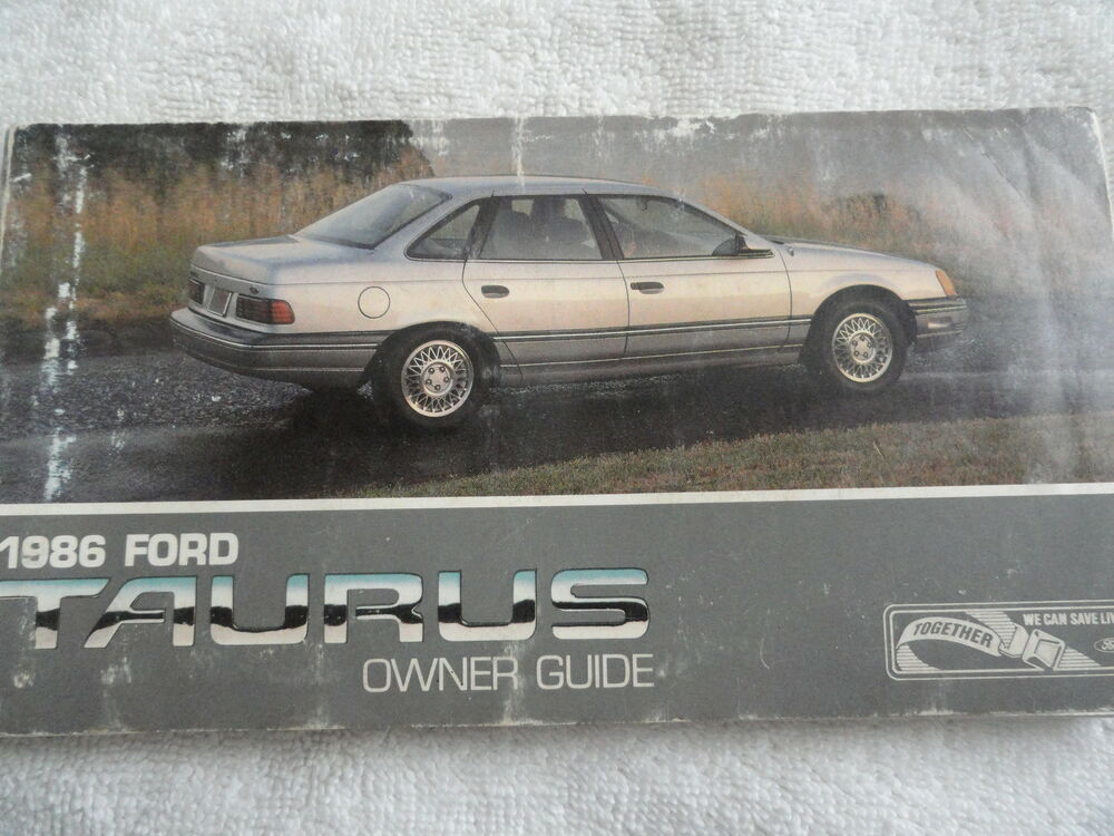 1986 Ford Taurus Owners Manual 86