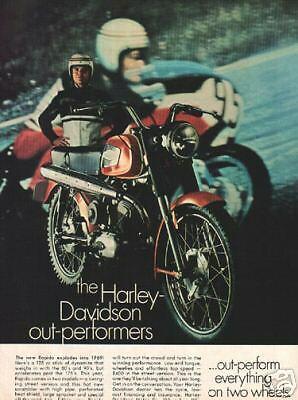 1969 harley davidson 125cc rapido motorcycle ad ebay. Black Bedroom Furniture Sets. Home Design Ideas