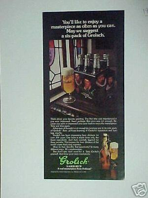 grolsch beer advertisement essay The purpose of this report is to critically evaluate the coherence of grolsch beer analysis of grolschs strategy marketing essay advertising grolsch has.