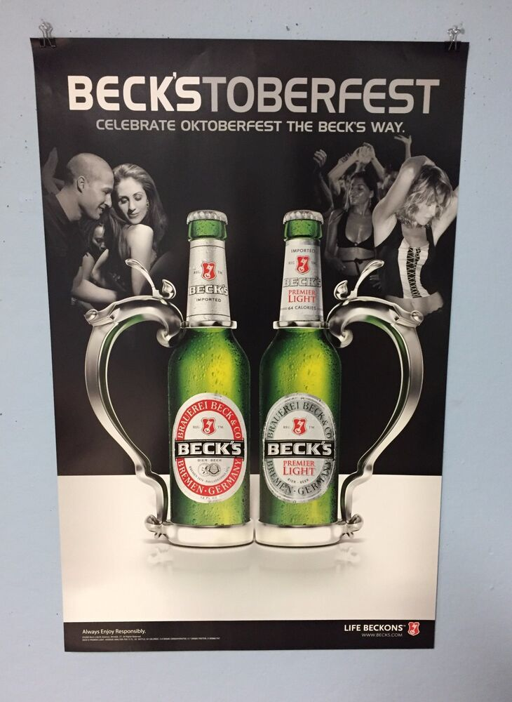 Good BECKS BEER BECKSTOBERFEST OCTOBERFEST BEER POSTER | EBay