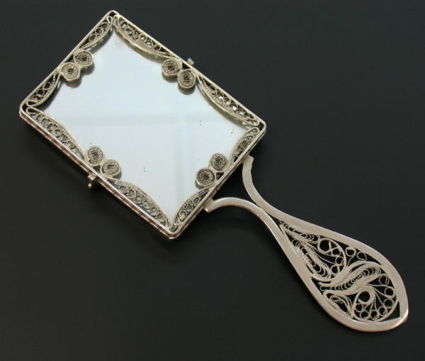 Antique victorian type tangle filigree frame mirror ebay for Types of mirror frames