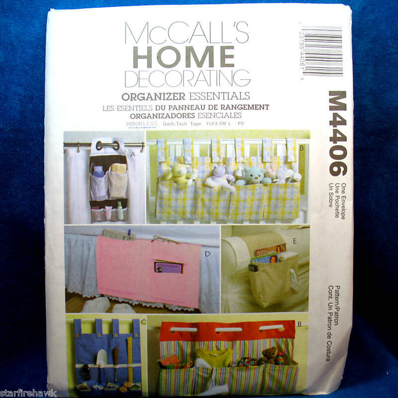 Http Www Ebay Com Itm Mccalls 4406 Home Decor Organizers 6 Designs Pattern 250317098880