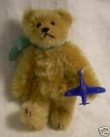 """5"""" Miniature Artist Teddy ROOSEVELT BEAR Co mohair Limited Ed by Cathy Peterson"""