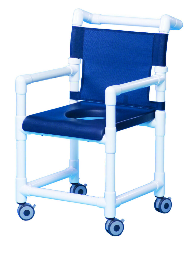 ROLLING DELUXE SHOWER CHAIR W CLOSED FRONT SOFT SEAT SC718 B EBay