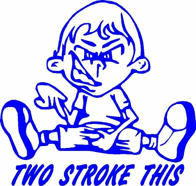 2 Stroke This Dirt Bike Enduro Motorcycle Sticker Ebay