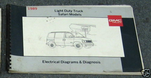 1989 Gmc Safari Light Duty Truck Wiring Diagrams Manual